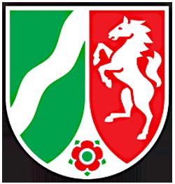 Landeswappen NRW in abgewandelter Form