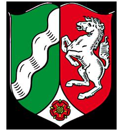 Landeswappen NRW in heraldischer Form